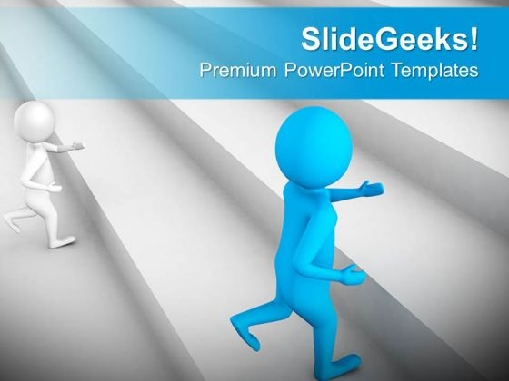 Take The Stairs Of Success And Win PowerPoint Templates Ppt Backgrounds For Slides 0613