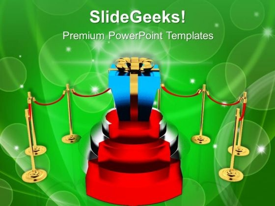 Take The Stairs Success To Achieve Prize PowerPoint Templates Ppt Backgrounds For Slides 0613