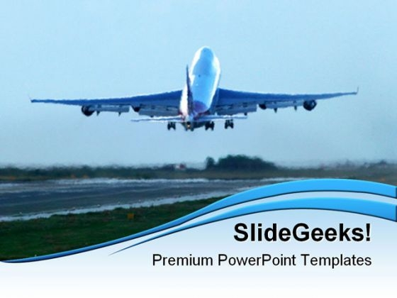 Aircraft powerpoint templates slides and graphics takeoff travel powerpoint templates and powerpoint backgrounds 0511 toneelgroepblik Choice Image