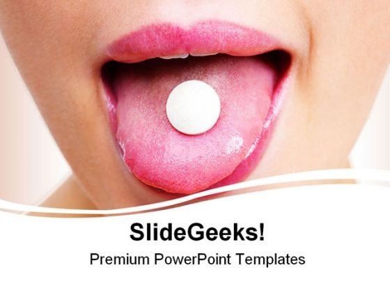Taking Tablet Medical PowerPoint Backgrounds And Templates 1210