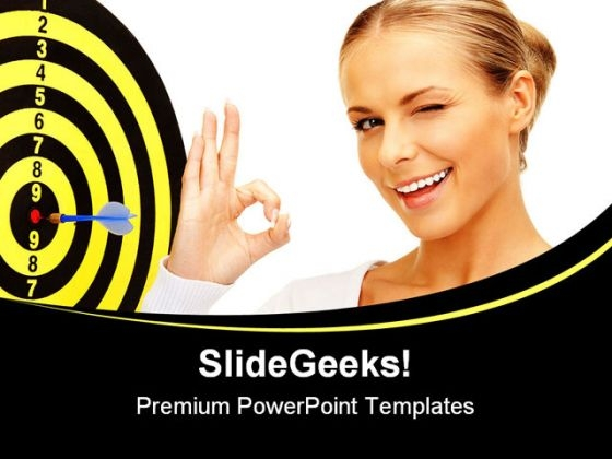 Target Achieved Business PowerPoint Backgrounds And Templates 0111