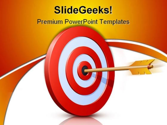 Target Achieved Success PowerPoint Themes And PowerPoint Slides 0411
