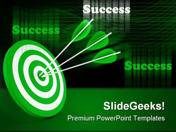 Target And Arrows Success PowerPoint Templates And PowerPoint Backgrounds 0211