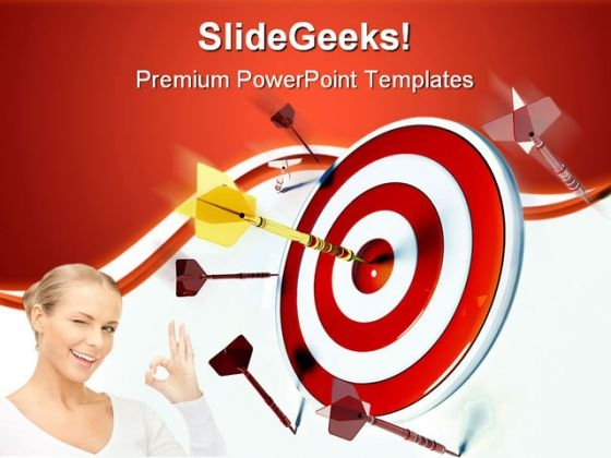 Target And Success Business PowerPoint Themes And PowerPoint Slides 0811
