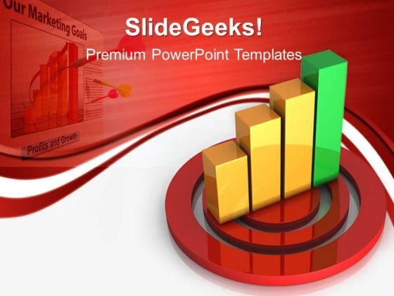 Target Bar Graph Business PowerPoint Templates And PowerPoint Themes 0512
