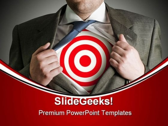 Target Businessman Business PowerPoint Themes And PowerPoint Slides 0511
