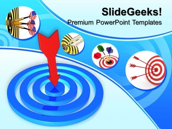 Target Concept Business PowerPoint Templates And PowerPoint Themes 0812