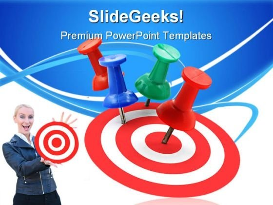 Target Concept Success PowerPoint Themes And PowerPoint Slides 0811
