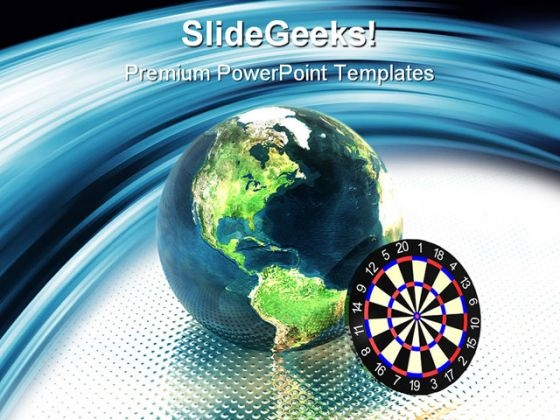 Target Earth Global PowerPoint Themes And PowerPoint Slides 0411