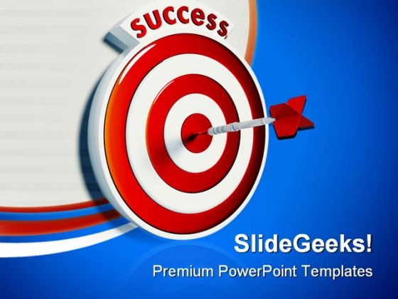 Target Success PowerPoint Templates And PowerPoint Backgrounds 0911