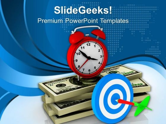 Target The Money On Time PowerPoint Templates Ppt Backgrounds For Slides 0513