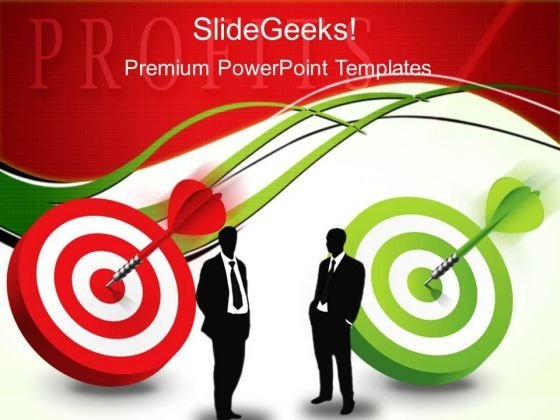 Target With Darts Profit Success PowerPoint Templates And PowerPoint Themes 0212