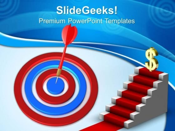 Targeted Arrow Success PowerPoint Templates And PowerPoint Themes 0712