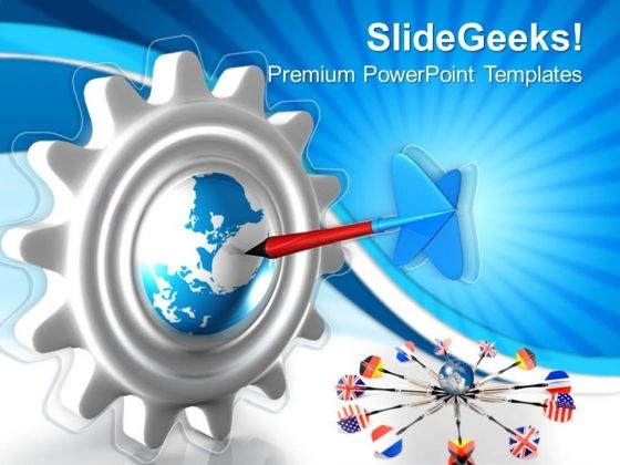 Targeted Earth Globe PowerPoint Templates And PowerPoint Themes 0612