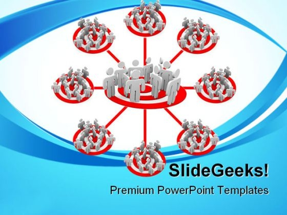 Targeted Flowchart Business PowerPoint Themes And PowerPoint Slides 0811
