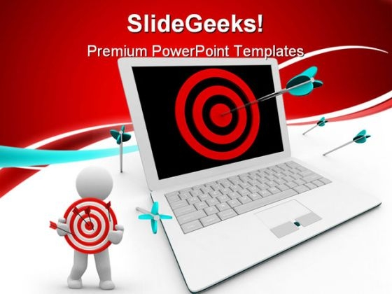053c555c77b Targeted On Computer Business PowerPoint Templates And PowerPoint  Backgrounds 0611