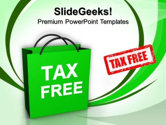 Tax Free Shopping Symbol PowerPoint Templates And PowerPoint Themes 0612