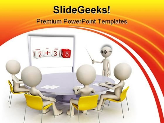 Teacher With Students Education PowerPoint Templates And PowerPoint Backgrounds 0311