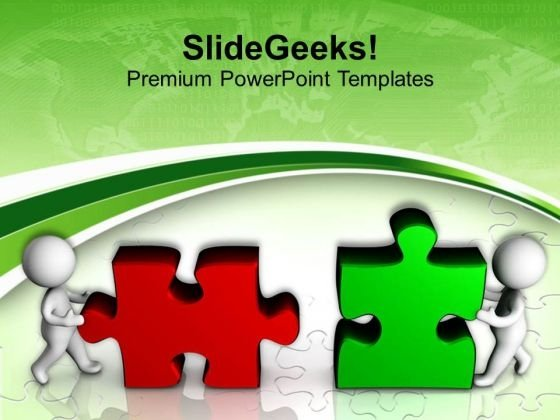 Team Assembling Jigsaw Puzzles Business Concept PowerPoint Templates Ppt Backgrounds For Slides 0413