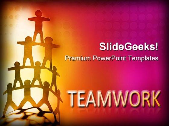 Team Balanced Teamwork PowerPoint Themes And PowerPoint Slides 0411