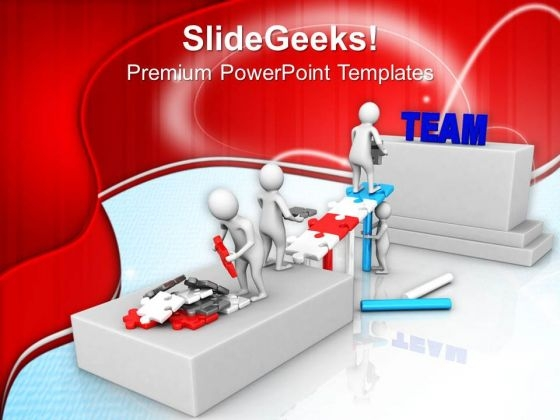 Team Can Build Solution PowerPoint Templates Ppt Backgrounds For Slides 0813