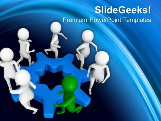 Team Circle For Business PowerPoint Templates Ppt Backgrounds For Slides 0613