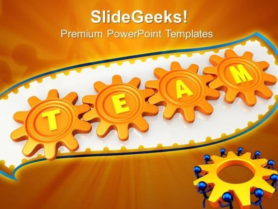 Team Connection Teamwork PowerPoint Templates And PowerPoint Themes 0612