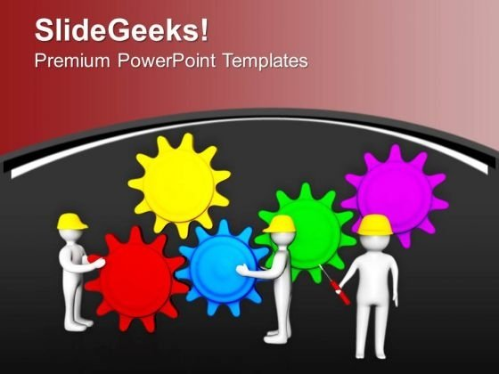 Team Efforts In Working Of Business Process PowerPoint Templates Ppt Backgrounds For Slides 0713