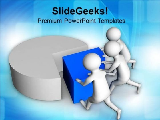 Team Efforts To Complete The Task Pie Chart PowerPoint Templates Ppt Backgrounds For Slides 0813
