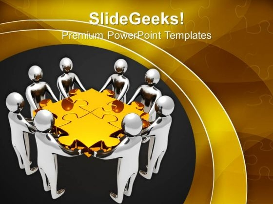 Team Finds Solution Business PowerPoint Templates And PowerPoint Themes 1112