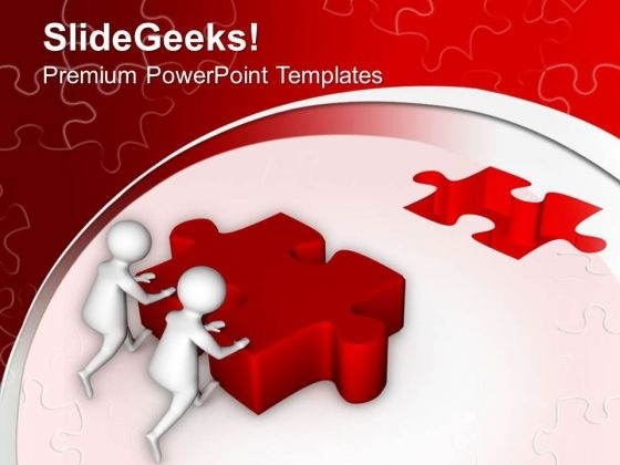 Team Found The Solution And Reach The Task PowerPoint Templates Ppt Backgrounds For Slides 0813