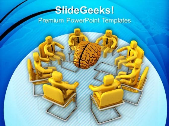 Team Generating Ideas For Business PowerPoint Templates Ppt Backgrounds For Slides 0713