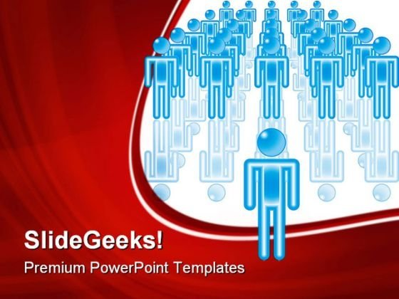 Team Leader Leadership PowerPoint Themes And PowerPoint Slides 0611