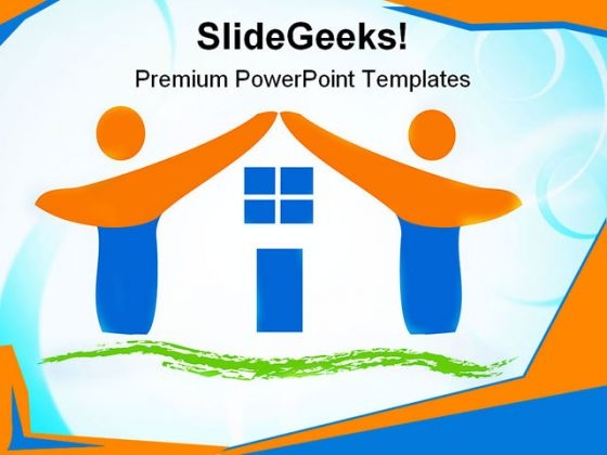 Team Made House Family PowerPoint Themes And PowerPoint Slides 0411