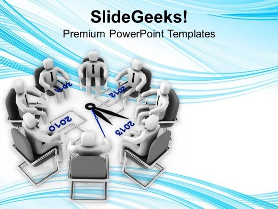 Team Meeting For An Agenda PowerPoint Templates Ppt Backgrounds For Slides 0713