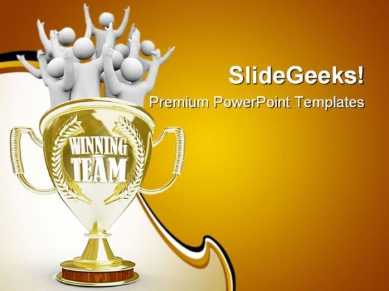 Champions powerpoint templates slides and graphics team members cheering success powerpoint templates and powerpoint backgrounds 0311 toneelgroepblik Choice Image