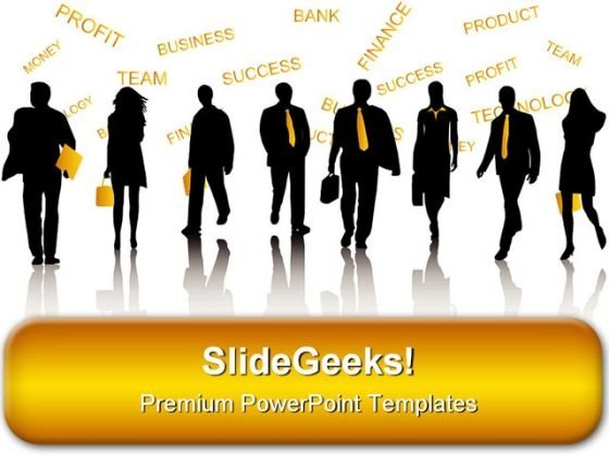 Team Of Businessmen Success PowerPoint Templates And PowerPoint Backgrounds 0611