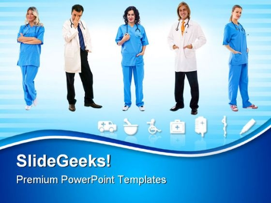 Team Of Doctors Hospitality PowerPoint Themes And PowerPoint Slides 0811