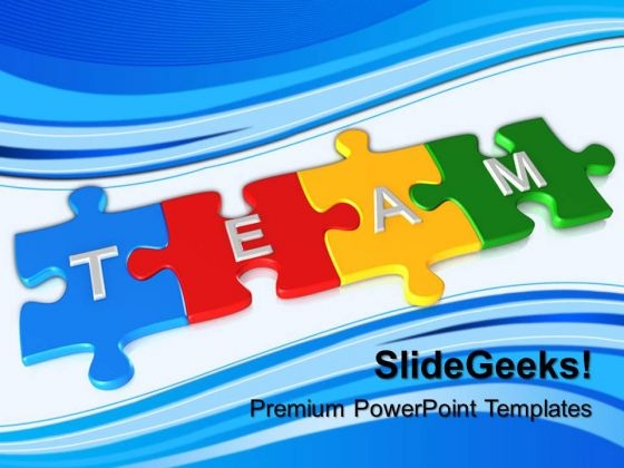 Team Puzzle Or Jigsaws PowerPoint Templates And PowerPoint Themes 0612