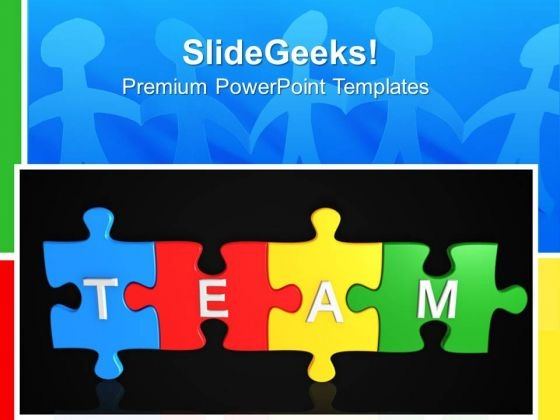 Team Puzzle Teamwork PowerPoint Templates And PowerPoint Themes 0612