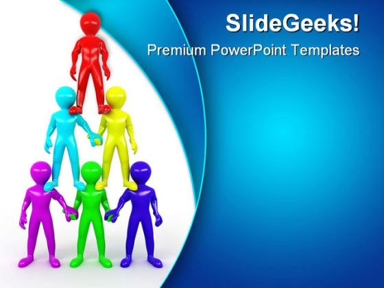 Team Pyramid Leadership PowerPoint Templates And PowerPoint Backgrounds 0411