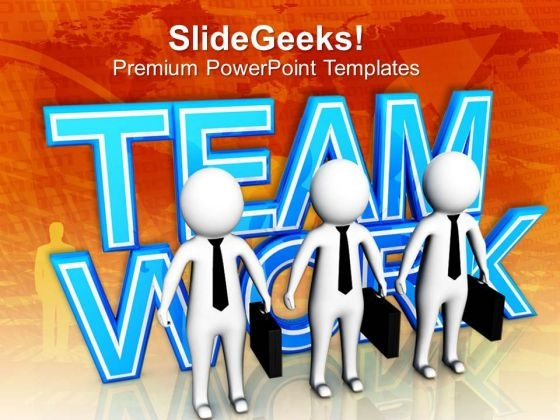 Team Support And Strategy Business Concept PowerPoint Templates Ppt Backgrounds For Slides 0513