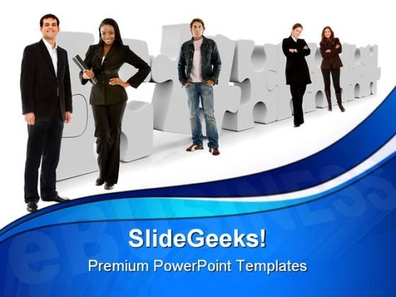 Team With Solution Business PowerPoint Templates And PowerPoint Backgrounds 1011