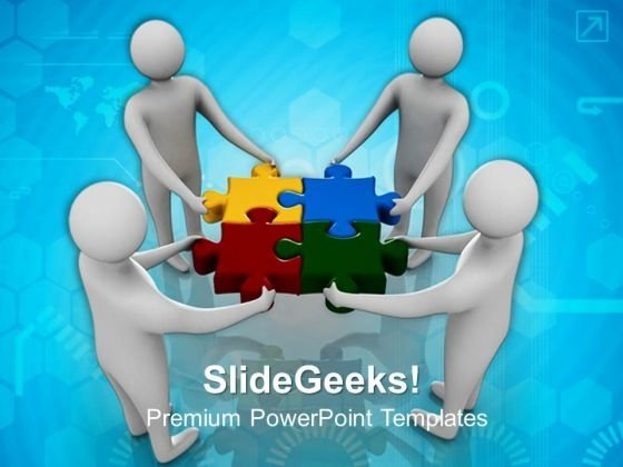 Team Working Together PowerPoint Templates And PowerPoint Themes 0912