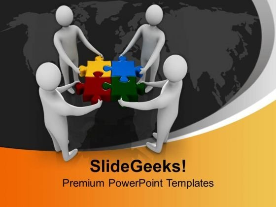 Team Working Together Success PowerPoint Templates And PowerPoint Themes 1112