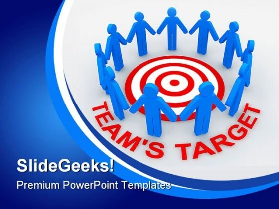 Teams Target Business PowerPoint Templates And PowerPoint Backgrounds 0311