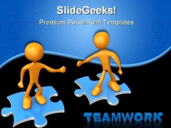 Teamwork02 Business PowerPoint Themes And PowerPoint Slides 0511
