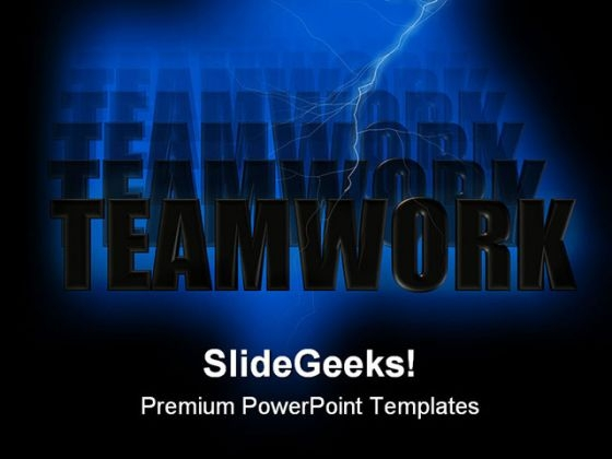 Teamwork Abstract PowerPoint Templates And PowerPoint Backgrounds 0811