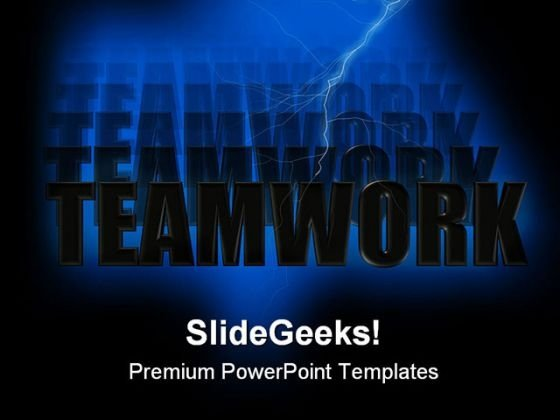Teamwork Abstract PowerPoint Themes And PowerPoint Slides 0811