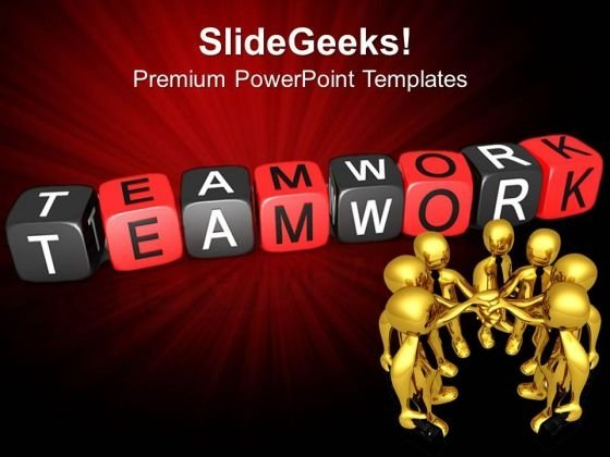 Teamwork Blocks Business PowerPoint Templates And PowerPoint Themes 0612
